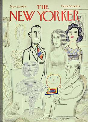 Armchair Painting - New Yorker November 23rd 1968 by Saul Steinberg