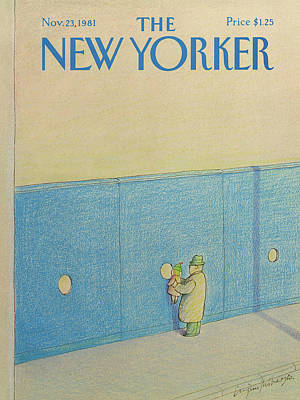 Granddaughter Painting - New Yorker November 23rd, 1981 by Eugene Mihaesco