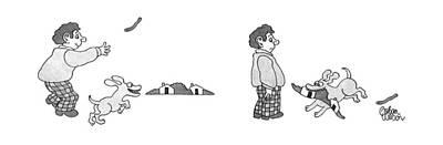 Horizon Drawing - New Yorker November 23rd, 1992 by Gahan Wilson