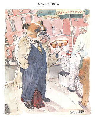 Hot Dogs Digital Art - New Yorker November 23rd, 1998 by Barry Blitt
