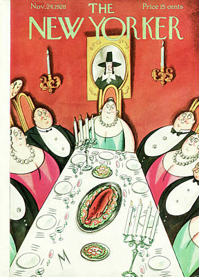 1928 Painting - New Yorker November 24th, 1928 by Julian de Miskey