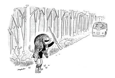 Transit Drawing - New Yorker November 25th, 1944 by M. K. Barlow