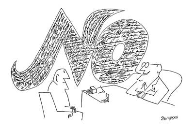 Drawing - New Yorker November 25th, 1961 by Saul Steinberg