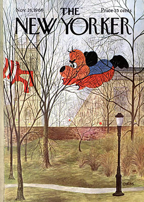 November 26th Painting - New Yorker November 26th, 1966 by Charles E Martin