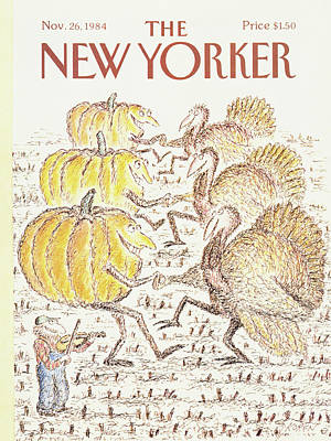 November 26th Painting - New Yorker November 26th, 1984 by Edward Koren
