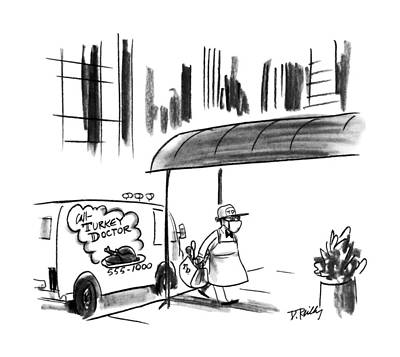 November 26th Drawing - New Yorker November 26th, 1990 by Donald Reilly