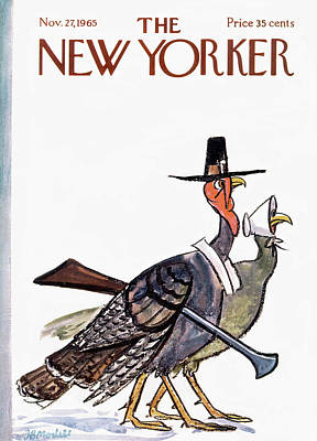 Food Painting - New Yorker November 27th, 1965 by Frank Modell