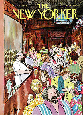 Drunk Painting - New Yorker November 27th, 1971 by Charles Saxon