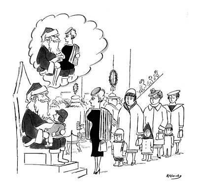 New Yorker November 28th, 1959 Art Print by Anatol Kovarsky