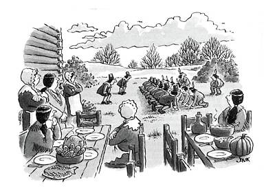 Drawing - New Yorker November 28th, 1983 by John Jonik