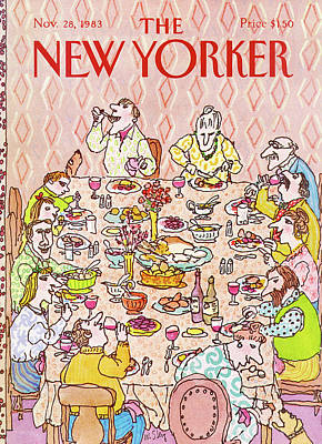 Dinner Painting - New Yorker November 28th, 1983 by William Steig