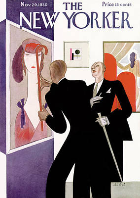 Fashion Painting - New Yorker November 29th, 1930 by Victor Bobritsky
