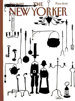 New Yorker November 29th, 1982 Art Print by Arnie Levin