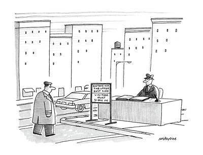 Pretentious Drawing - New Yorker November 30th, 1987 by Mick Stevens