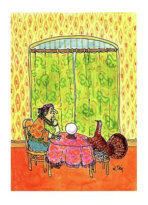 Turkey Drawing - New Yorker November 30th, 1992 by William Steig