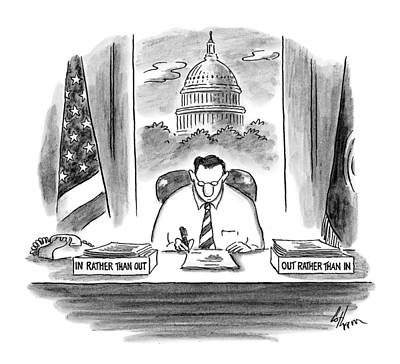 Capitol Drawing - New Yorker November 30th, 1998 by Frank Cotha