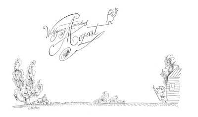 Sky Drawing - New Yorker November 3rd, 1962 by Saul Steinberg