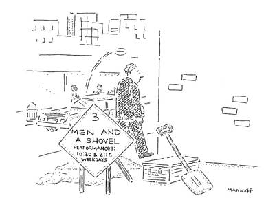 Street Drawing - New Yorker November 3rd, 1997 by Robert Mankoff