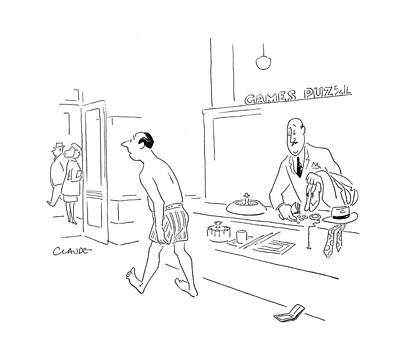 Claude-smith Drawing - New Yorker November 4th, 1944 by Claude Smith