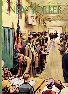 President Painting - New Yorker November 4th, 1950 by Arthur Getz