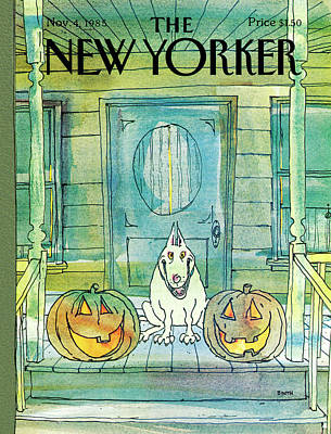 Porch Painting - New Yorker November 4th, 1985 by George Booth