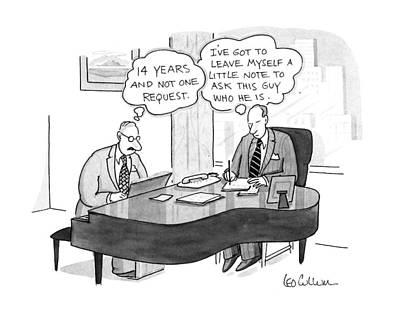New Yorker November 4th, 1991 Art Print by Leo Cullum