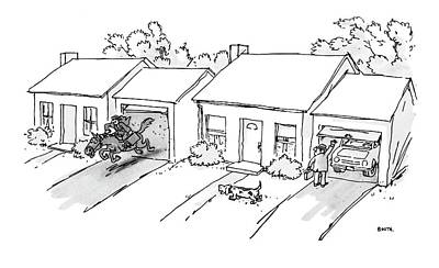 Suburbs Drawing - New Yorker November 5th, 1979 by George Booth