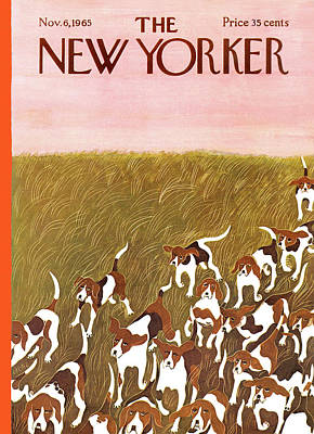 Pooch Painting - New Yorker November 6th, 1965 by Ilonka Karasz