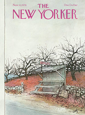 Fruit Stand Painting - New Yorker November 6th, 1978 by Arthur Getz