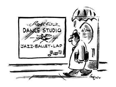 Window Signs Drawing - New Yorker November 6th, 1995 by Lee Lorenz