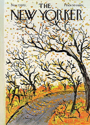 Autumn Painting - New Yorker November 7th, 1970 by Abe Birnbaum