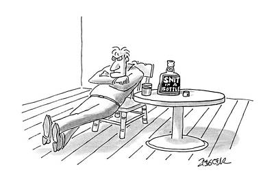Chair Drawing - New Yorker November 7th, 1988 by Jack Ziegler