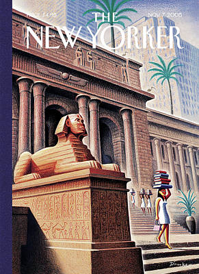 Library Painting - New Yorker November 7th, 2005 by Eric Drooker