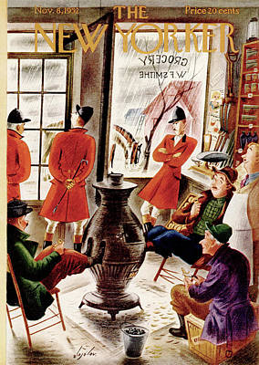 Storefront Painting - New Yorker November 8th, 1952 by Constantin Alajalov