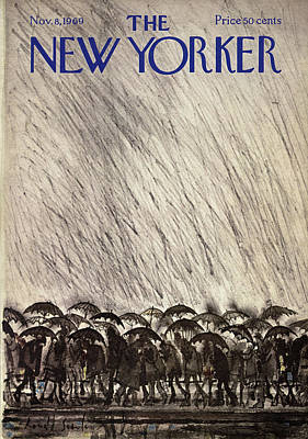 New Yorker November 8th, 1969 Art Print by Ronald Searle