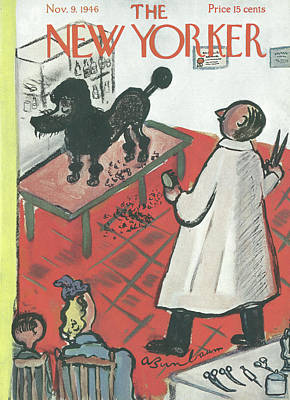 Pooch Painting - New Yorker November 9th, 1946 by Abe Birnbaum