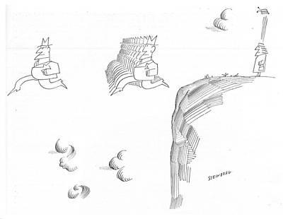New Yorker November 9th, 1968 Art Print by Saul Steinberg