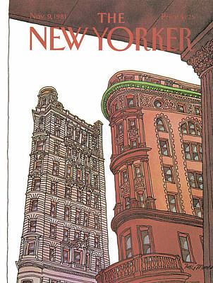 Architecture Painting - New Yorker November 9th, 1981 by Roxie Munro