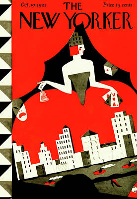 New Yorker October 10th, 1925 Art Print by Ilonka Karasz