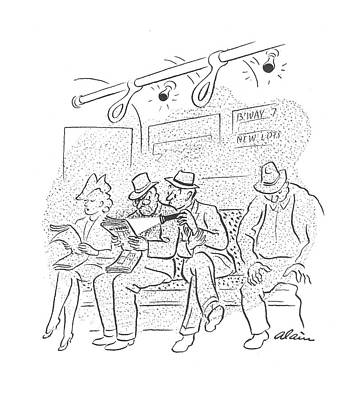 Searching Drawing - New Yorker October 10th, 1942 by  Alain