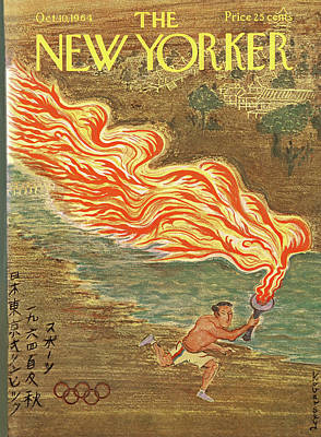Torch Painting - New Yorker October 10th, 1964 by Anatol Kovarsky