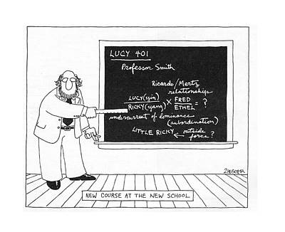 Blackboards Drawing - New Yorker October 10th, 1977 by Jack Ziegler