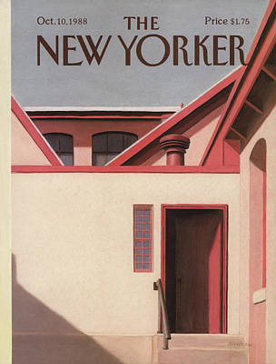 Side Entrance Painting - New Yorker October 10th, 1988 by Gretchen Dow Simpson