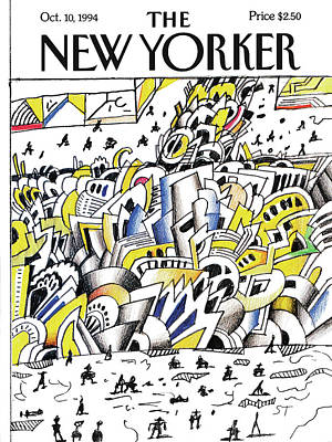 Canal Street Painting - New Yorker October 10th, 1994 by Saul Steinberg