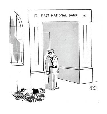 Grate Drawing - New Yorker October 11th, 1941 by Chon Day