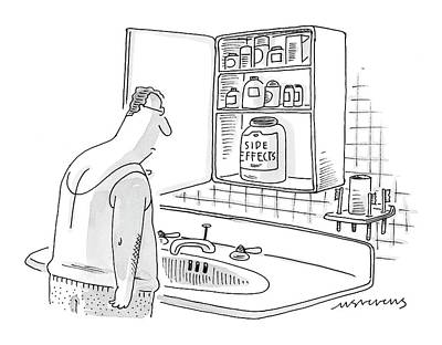 Pill Drawing - New Yorker October 11th, 1999 by Mick Stevens