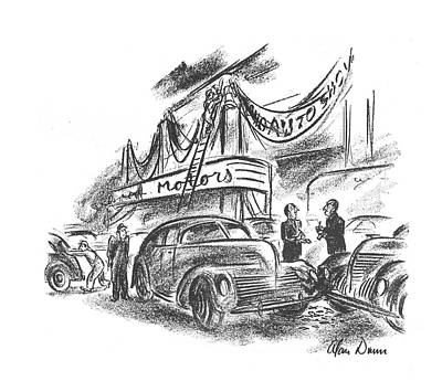Truck Drawing - New Yorker October 12th, 1940 by Alan Dunn