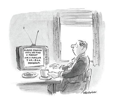 New Yorker October 12th, 1987 Art Print by James Stevenson
