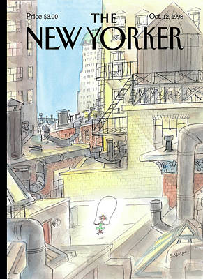Painting - New Yorker October 12th, 1998 by Jean-Jacques Sempe