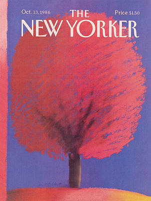 Autumn Painting - New Yorker October 13th, 1986 by Merle Nacht